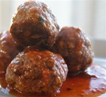 Meatballs in Red Sauce